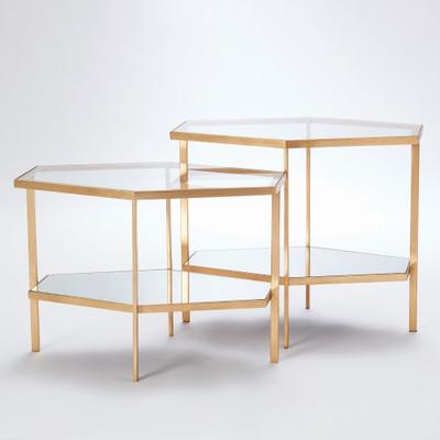 Hexagon Table - Gold