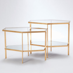 Hexagon Table - Gold - Tall