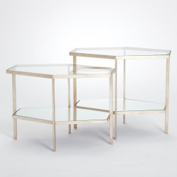Hexagon Table - Silver Leaf