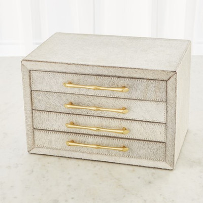 Jacqueline Jewelry Box - White Hair - on - Hide