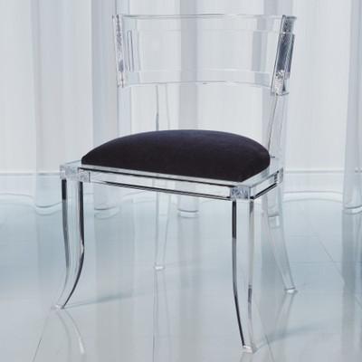 Klismos Acrylic Chair - Black
