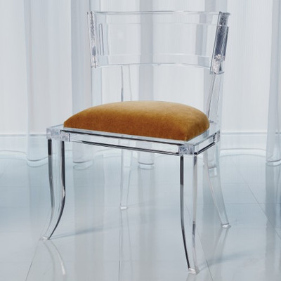 Klismos Acrylic Chair - Brown Sugar