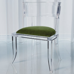 Klismos Acrylic Chair - Emerald Green