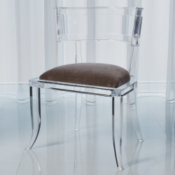 Klismos Acrylic Chair - Pewter