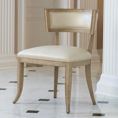Klismos Chair - Beige Leather