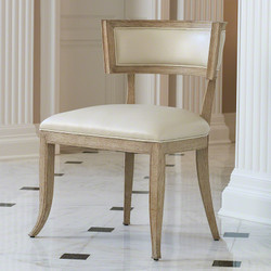 Klismos Chair - Beige Leather