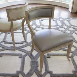 Klismos Chair - Grey Leather