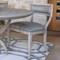 Klismos Chair - Grey Leather image 1