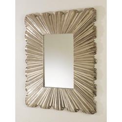 Linen Fold Mirror - Silver