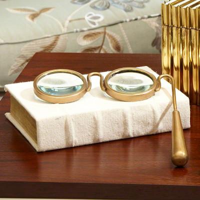 Lorgnette Magnifying Glass - Brass