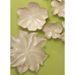 Magnolia Platter - Ivory - Lg