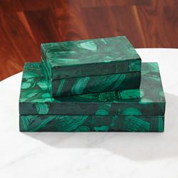 Malachite Stone Box - Lg