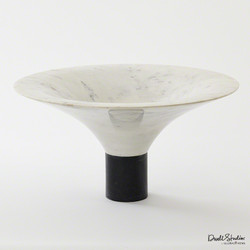 Marble Flared Bowl - White