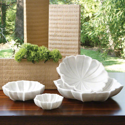 Marble Petal Bowl - Lg