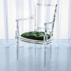 Marilyn Acrylic Arm Chair - Emerald Green
