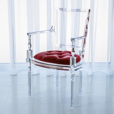 Marilyn Acrylic Arm Chair - Red Pepper