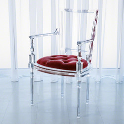 Marilyn Acrylic Arm Chair - Red Pepper