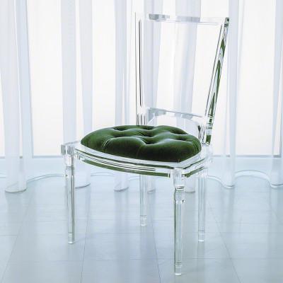 Marilyn Acrylic Side Chair - Emerald Green
