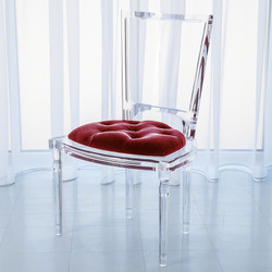 Marilyn Acrylic Side Chair - Red Pepper