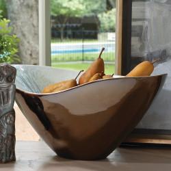 Marta's Bowl - Bronze Reactive Blue