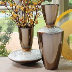 Marta's Vase - Bronze Reactive Blue - Tall