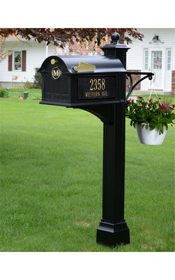 Whitehall Products Balmoral Streetside Monogram Mailbox