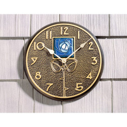 Blue Dard Hunter Rose Clock main image