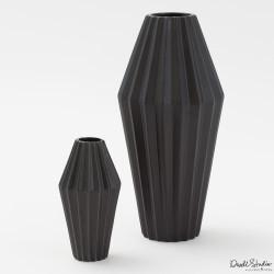 Milos Vase - Matte Black - Lg