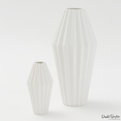 Milos Vase - Matte White - Lg