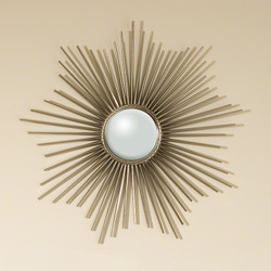 Mini Sunburst Mirror - Nickel w/Security Hardware