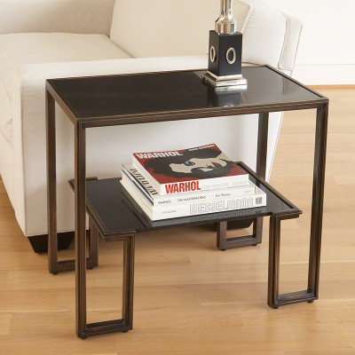 One - Up Table - Bronze Finish
