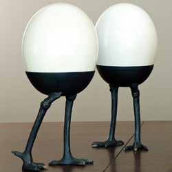 Ostrich Egg on Legs - Standing