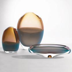 Oval Vase - Pistachio Amber - Lg