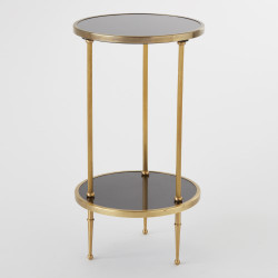 Petite 2 Tiered Table - Antique Brass