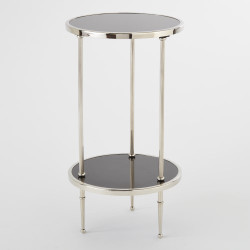 Petite 2 Tiered Table - Nickel