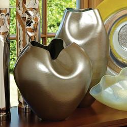Plait Vase - Silver Haze - Round