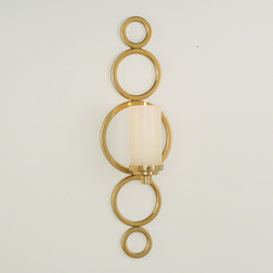 Progressive Ring Sconce - Brass