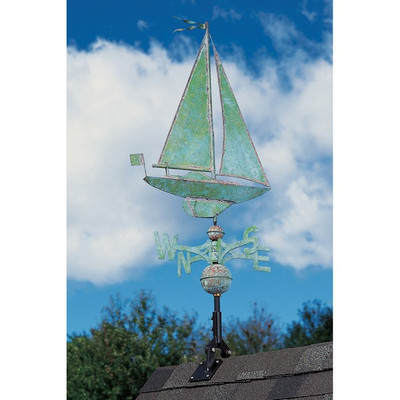 Copper Sailboat Weathervane image 2