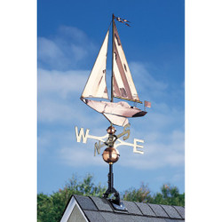 Copper Sailboat Weathervane main image