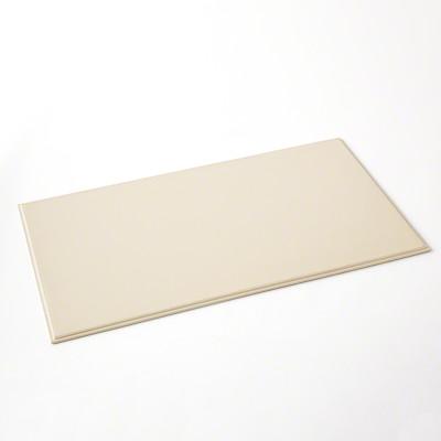 Refined Leather Desk Blotter in Ivory