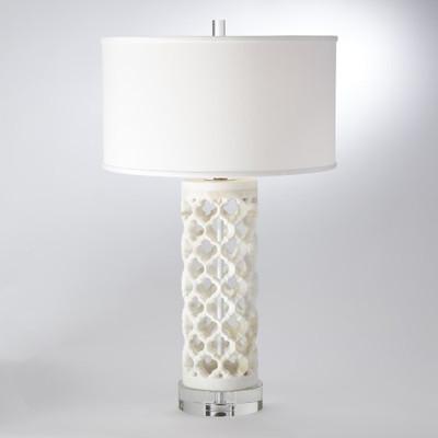 Round Arabesque Marble Lamp