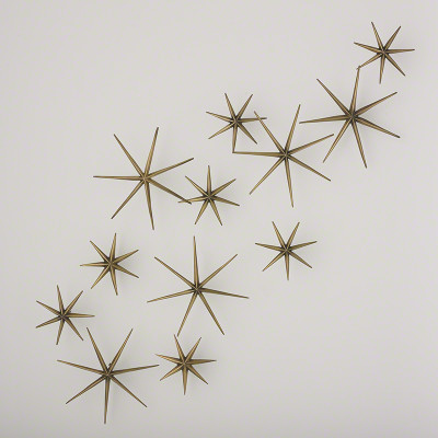 S/12 Etoile Wall Decor - Brass