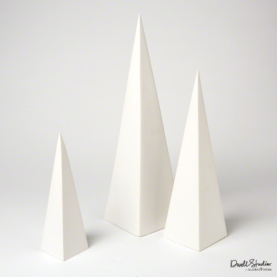 S/3 Pyramid Objet - Matte White