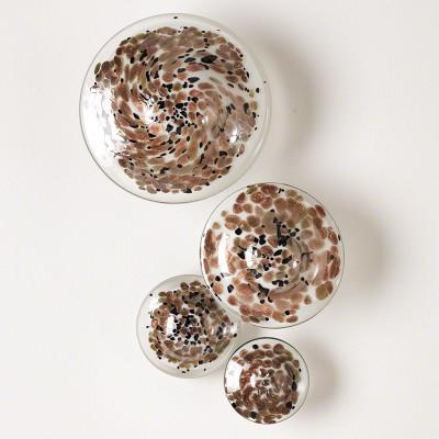 S/4 Glass Wall Mushrooms - Metallic