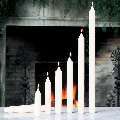 """S/4 Taper Candles - Unscented - 1""""x10"""""""