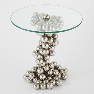 Sphere Table - Nickel