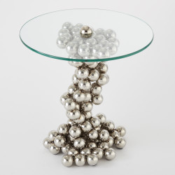 Sphere Table - Nickel