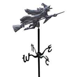 Flying Witch Garden Weathervane main image