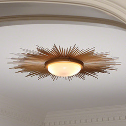 Sunburst Light Fixture - Gold