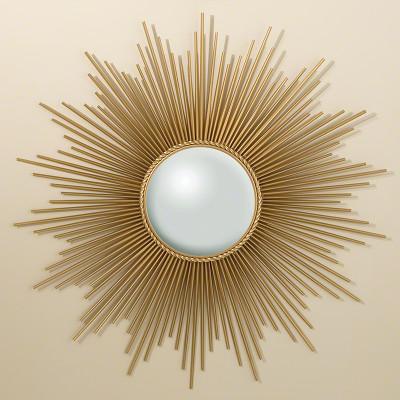 Sunburst Mirror - Gold w/Security Hardware
